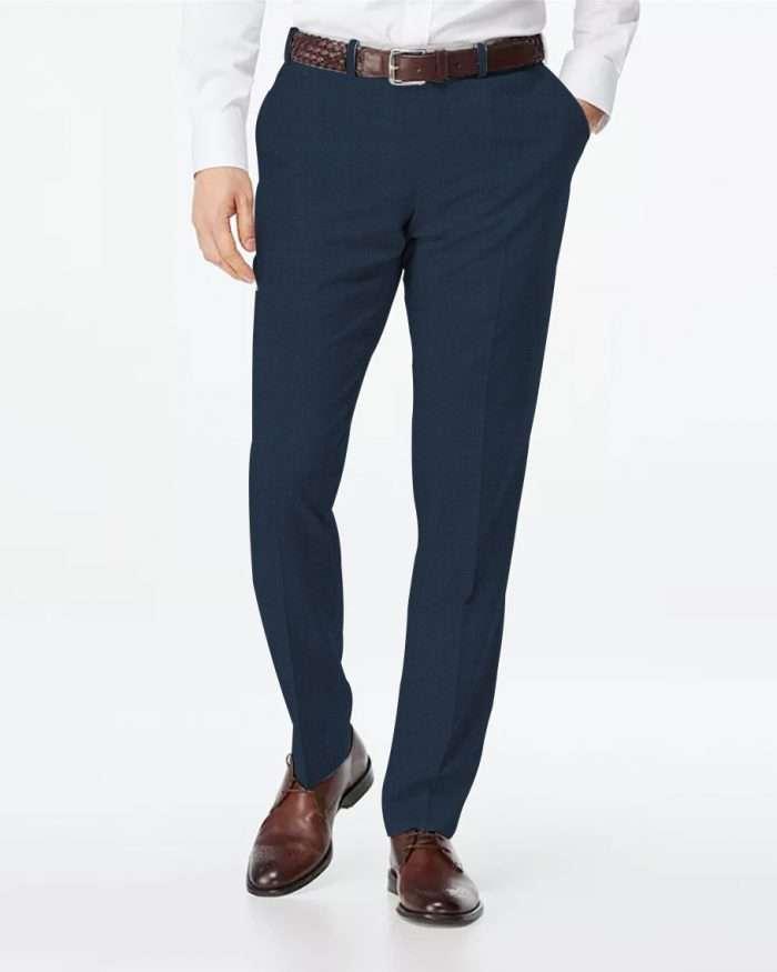 Custom Made Navy Blue Men's Pants